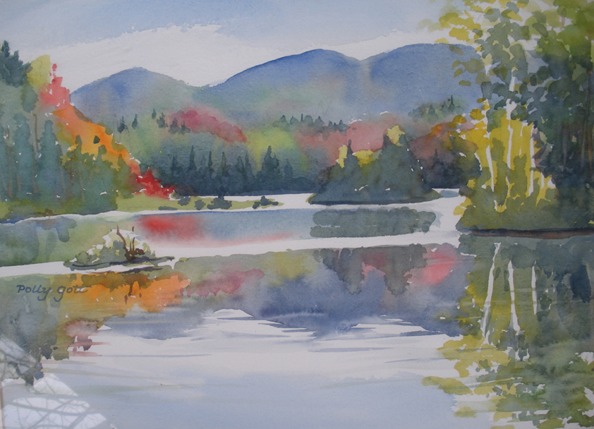 """Adirondacks 1"" watercolor painting by WNC artist Polly Gott"