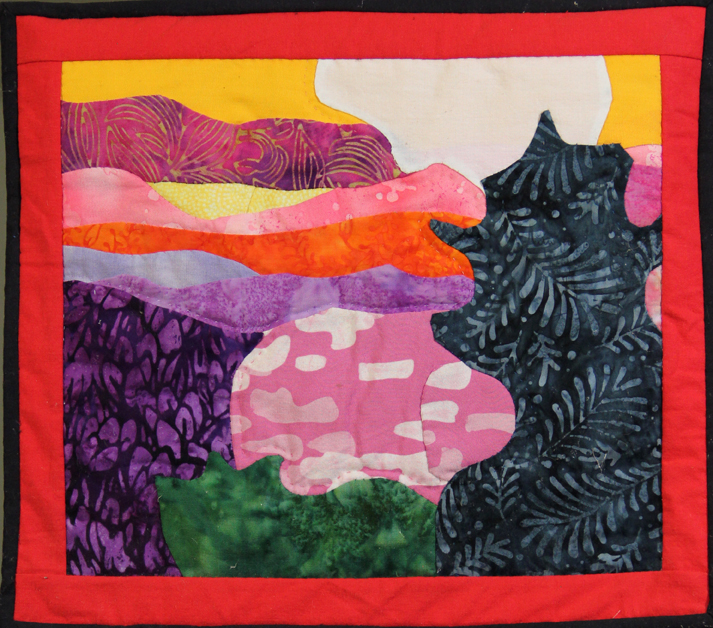 Art Quilt by Asheville area artist Mary Filiss