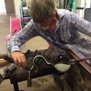 Asheville area artist glassblower Michael Hatch, Crucible Glassworks