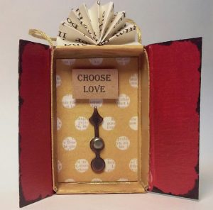 """Choose Love"" shrine by Amanda Heinz-Stevenson, Firestarter Shrines"
