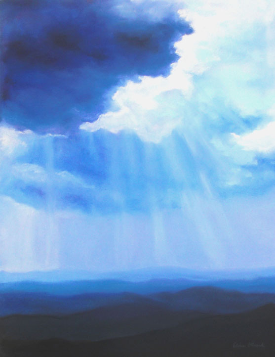 """Mountain Light, original pastel painting by Asheville artist Elise Okrend"