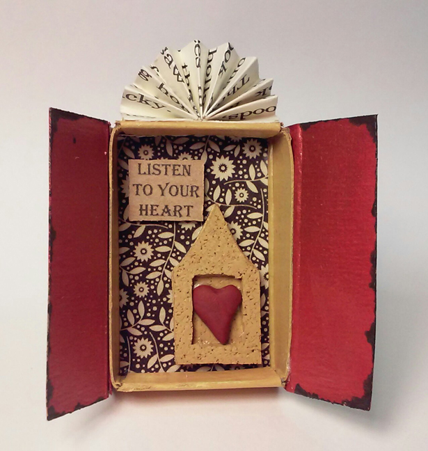 """Listen to Your Heart"" shrine by Amanda Heinz-Stevenson, Firestarter Shrines"
