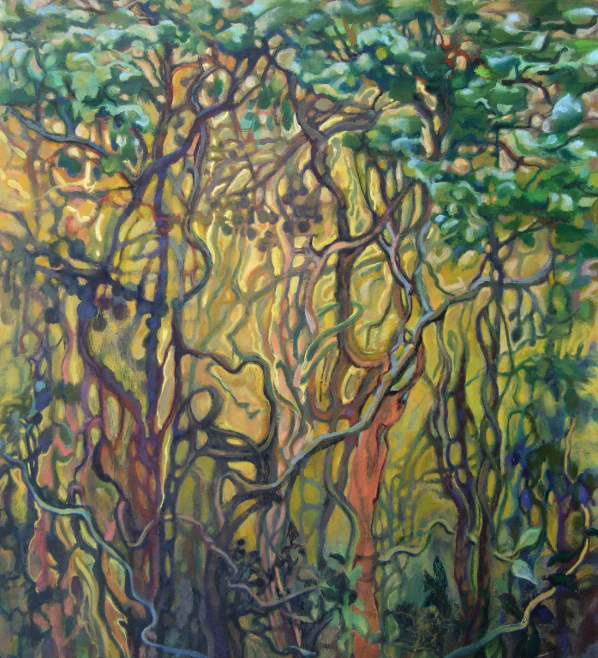 """""""High Summer"""" oil painting by WNC artist Dixie Damron"""