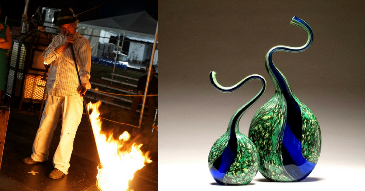 Michael Hatch of Crucible Glassworks, Asheville area artist