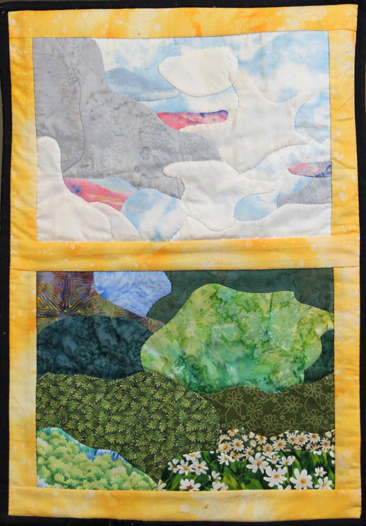 Original quilt by Asheville area artist Mary Filiss