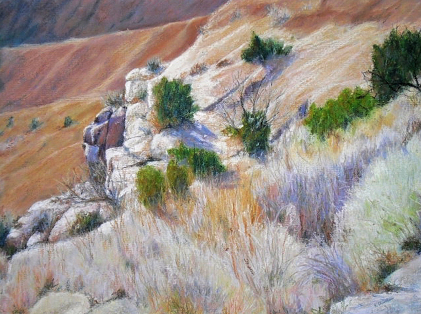 """Palo Duro Canyon II"" pastel painting by Asheville artist Karen Chambers"