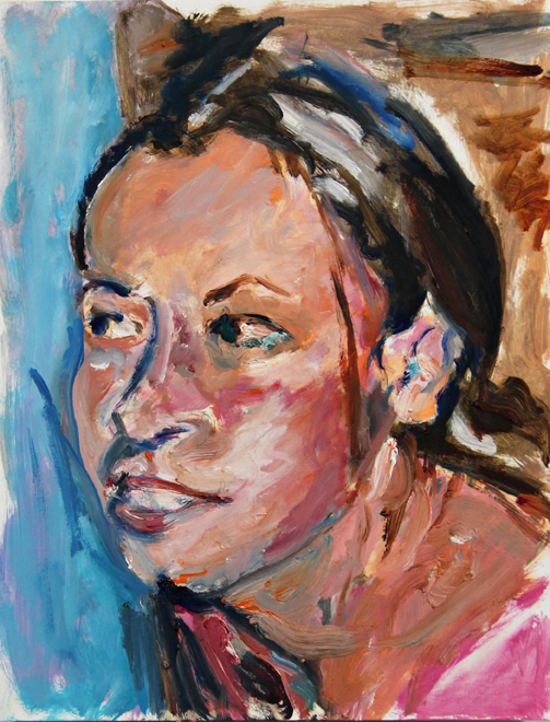 Portrait, original oil painting by Asheville area artist Mary Filiss