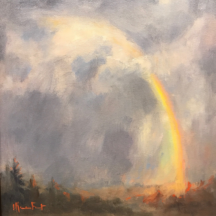 """Promise"" 20x20"" original oil painting by Asheville artist Cheryl Keefer"