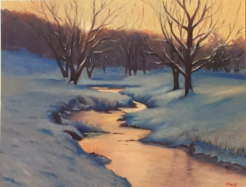 """Winter's Offering"" by Asheville artist Susan Sinyai"