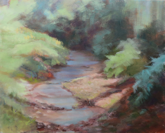 Sweet Water original oil painting by WNC artist Kat Turczyn