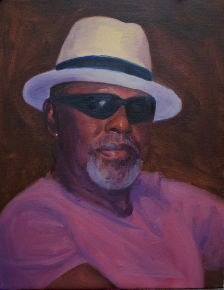 """The Man"" self portrait oil painting by Asheville artist Joseph Pearson"